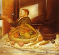 Hello painting reproduction, Fernando Botero