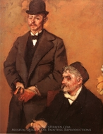 Henri Rouart and his Son Alexis painting reproduction, Edgar Degas