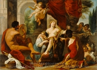 Hercules and Omphale painting reproduction, Luigi Garzi