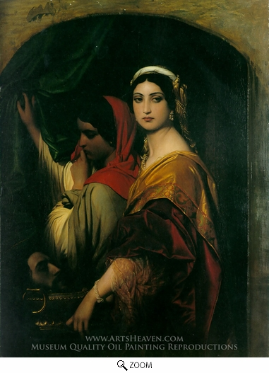 Painting Reproduction of Herodias, Paul Delaroche