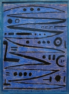 Heroic Strokes of the Bow painting reproduction, Paul Klee