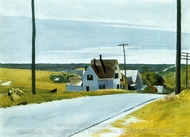 High Road painting reproduction, Edward Hopper