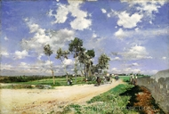 Highway of Combes-la-Ville painting reproduction, Giovanni Boldini
