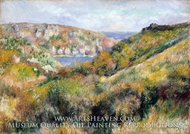 Hills around the Bay of Moulin Huet, Guernsey by Pierre-Auguste Renoir