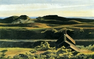 Hills South Truro painting reproduction, Edward Hopper