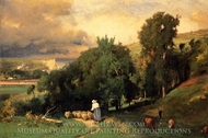 Hillside at Etretet painting reproduction, George Inness