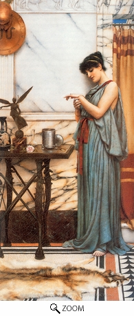 Painting Reproduction of His Birthday Gift, John William Godward