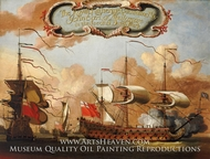 HMS Royal Katherine painting reproduction, H. Vale