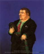 Hombre painting reproduction, Fernando Botero