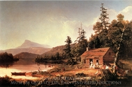 Home in the Woods painting reproduction, Thomas Cole
