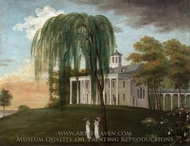 Home of George Washington, The Father of His Country painting reproduction, J. Wiess