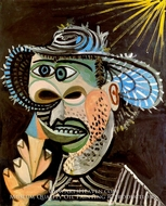 Homme au Cornet de Glace by Pablo Picasso (inspired by)