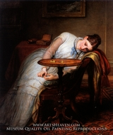 Hope Deferred, and Hopes and Fears That Kindle Hope painting reproduction, Charles West Cope