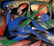 Horse Dreaming painting reproduction, Franz Marc