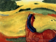 Horse in a Landscape painting reproduction, Franz Marc
