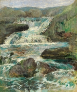 Horseneck Falls painting reproduction, John Henri Twachtman