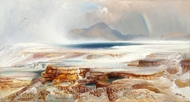 Hot Springs of the Yellowstone painting reproduction, Thomas Moran