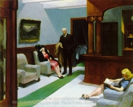 Hotel Lobby painting reproduction, Edward Hopper
