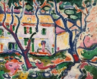 House behind Trees by Georges Braque
