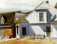 House on Pamet River painting reproduction, Edward Hopper