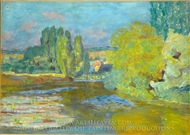 House on the Seine near Vernon painting reproduction, Pierre Bonnard