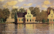 Houses Along the Zaan at Zaandam by Claude Monet