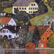 Houses in Unterach on Lake Atter by Gustav Klimt