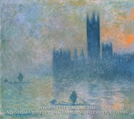 Houses of Parliament, Fog Effect by Claude Monet