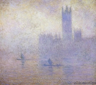 Houses of Parliament, Fog Effect painting reproduction, Claude Monet