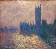Houses of Parliament, Stormy Sky painting reproduction, Claude Monet