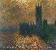 Houses of Parliament, Stormy Sky by Claude Monet