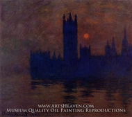 Houses of Parliament, Sunset by Claude Monet