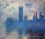 Houses of Parliament, Westminster by Claude Monet