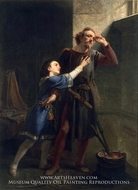Hubert and Arthur painting reproduction, Christian Schussele