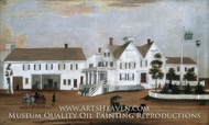 Hudson House painting reproduction, Edgar William