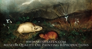 Hudson's Bay Lemming painting reproduction, John Woodhouse Audubon