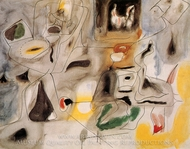 Hugging, Good Hope Road II painting reproduction, Arshile Gorky