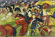 Hussars on a Sortie painting reproduction, August Macke