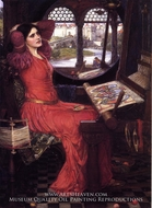I am Half Sick of Shadows painting reproduction, John William Waterhouse