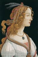 Idealized Portrait of a Lady painting reproduction, Sandro Botticelli