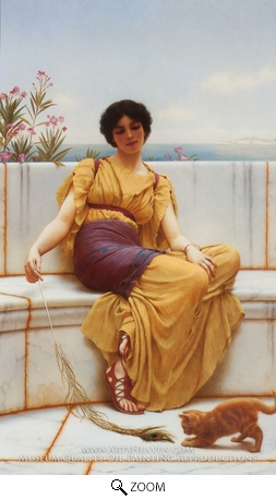Painting Reproduction of Idleness, John William Godward