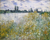 Ile aux Fleurs near Vetheuil painting reproduction, Claude Monet