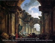 Imaginary View of the Grande Galerie in Ruins by Hubert Robert