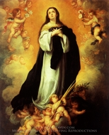 Immaculate Conception painting reproduction, Bartolome Esteban Murillo