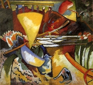 Improvisation 11 painting reproduction, Wassily Kandinsky