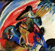 Improvisation 12 (Rider) painting reproduction, Wassily Kandinsky