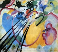 Improvisation 26 (Rowing) painting reproduction, Wassily Kandinsky