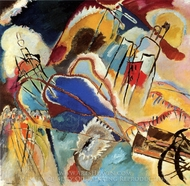 Improvisation 30 (Cannons) painting reproduction, Wassily Kandinsky