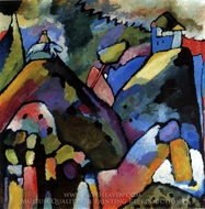 Improvisation 9 painting reproduction, Wassily Kandinsky