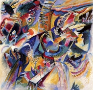 Improvisation Gorge painting reproduction, Wassily Kandinsky